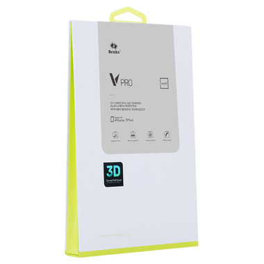 Защитное стекло для iPhone 7 Plus VPro белая рамка, фото №6