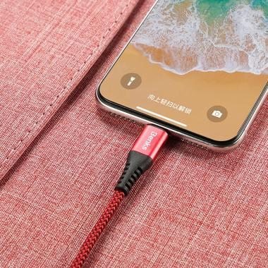 Lightning USB кабель красный, 25 см - Chidian, фото №5