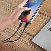 Lightning USB кабель черный, 25 см - Chidian - фото 1