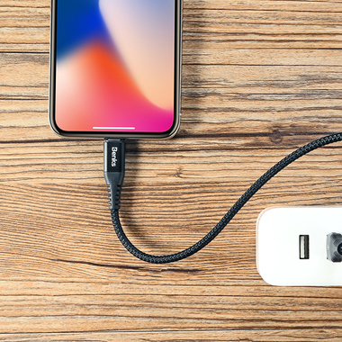 Lightning USB кабель черный, 25 см - Chidian, фото №5