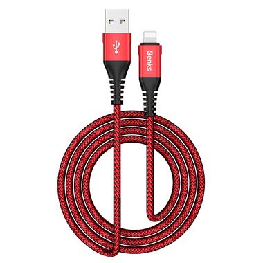 Lightning USB кабель красный, 120 см - Chidian, фото №2