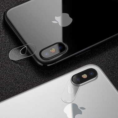 Защитное стекло на камеру для iPhone X, фото №1