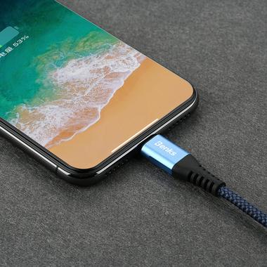 Lightning USB кабель синий, 120 см - Chidian, фото №3
