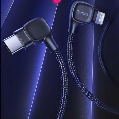 Type C - lightning кабель 150 см под 90 градусов - черный, фото №13