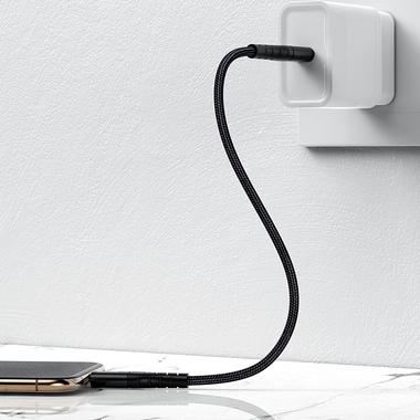 Type C - Lightning MFI кабель - 0,25 м черный, фото №7