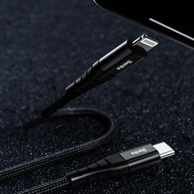 Type C - Lightning MFI кабель - 0,25 м черный, фото №6