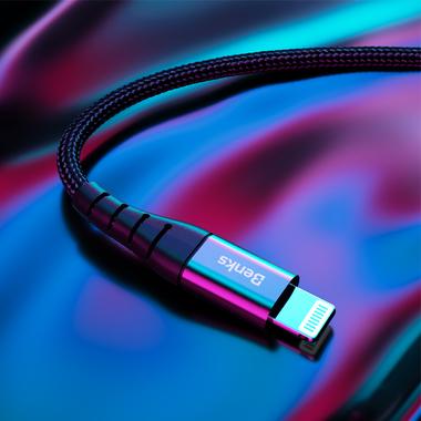 Type C - Lightning MFI кабель - 0,25 м черный, фото №4