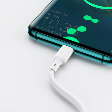 USB A - Type C 5A Fast Charging кабель белого цвета 120 см, фото №2