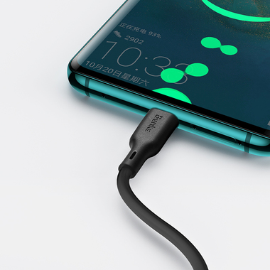 USB A - Type C 5A Fast Charging кабель черного цвета 120 см, фото №2