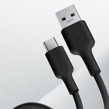 USB A - Type C 5A Fast Charging кабель черного цвета 120 см, фото №4