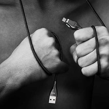 USB A - Micro USB нейлоновый кабель - черный 120 см, фото №2