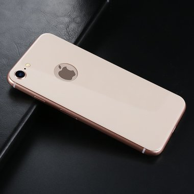 Защитное стекло для iPhone 8 Plus (задняя сторона) - золотой цвет, фото №2