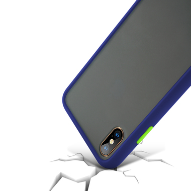 Чехол для iPhone Xs Max - Magic Smooth синий 1,5мм, фото №2