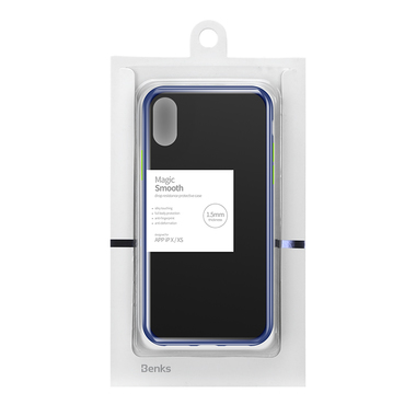 Чехол для iPhone Xs Max - Magic Smooth синий 1,5мм, фото №6