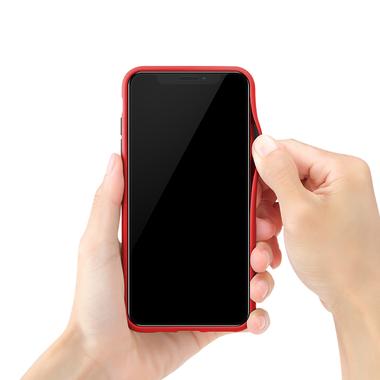 Чехол для iPhone Xs Max - Magic Smooth красный 1,5мм, фото №3