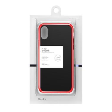 Чехол для iPhone Xs Max - Magic Smooth красный 1,5мм, фото №6