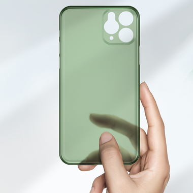 Чехол для iPhone 11 Pro 0,4 mm - темно-зеленый LolliPop, фото №3