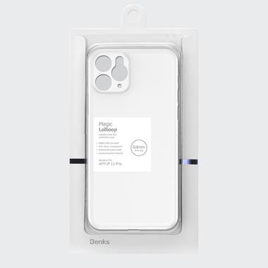 Чехол для iPhone 11 Pro 0,4 mm - белый полупрозрачный LolliPop, фото №7