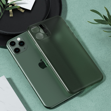 Чехол для iPhone 11 Pro Max 0,4 mm - темно-зеленый LolliPop, фото №11