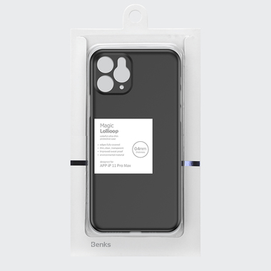 Чехол для iPhone 11 Pro Max 0,4 mm - черный LolliPop, фото №7