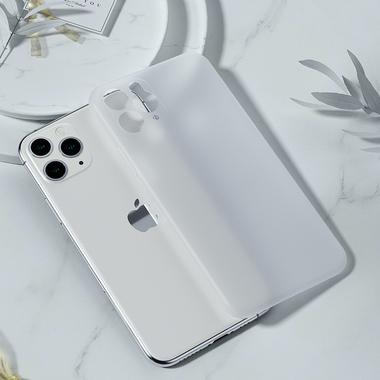 Чехол для iPhone 11 Pro Max 0,4 mm - белый полупрозрачный LolliPop, фото №1