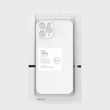 Чехол для iPhone 11 Pro Max 0,4 mm - белый полупрозрачный LolliPop, фото №6