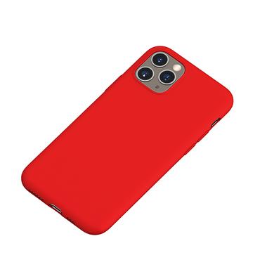 Силиконовый чехол для iPhone 11 Pro Max Magic Silki - красный, фото №1