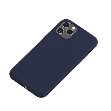 Силиконовый чехол для iPhone 11 Pro Max Magic Silki - темно синий, фото №1