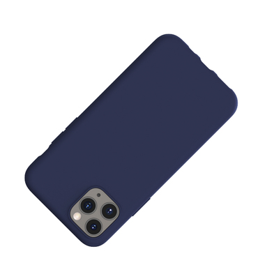 Силиконовый чехол для iPhone 11 Pro Max Magic Silki - темно синий, фото №2