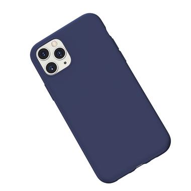 Силиконовый чехол для iPhone 11 Pro Max Magic Silki - темно синий, фото №3