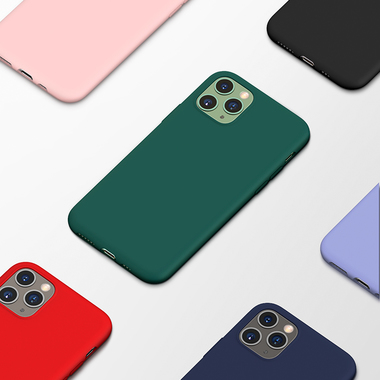 Силиконовый чехол для iPhone 11 Pro Max Magic Silki - темно синий, фото №4