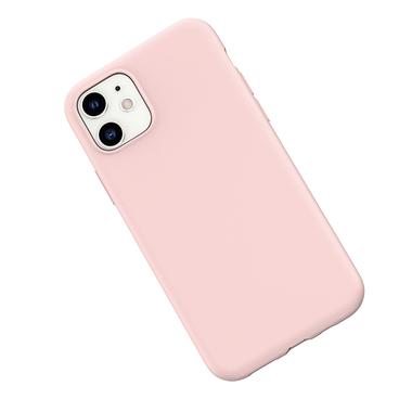 Силиконовый чехол для iPhone 11 Magic Silki - розовый, фото №3