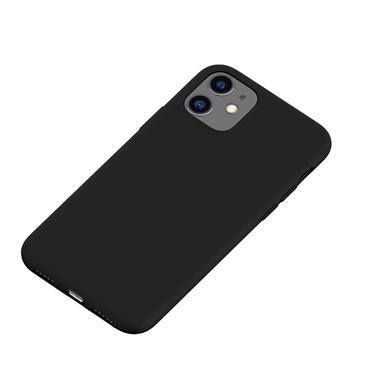 Силиконовый чехол для iPhone 11 Magic Silki - черный, фото №1