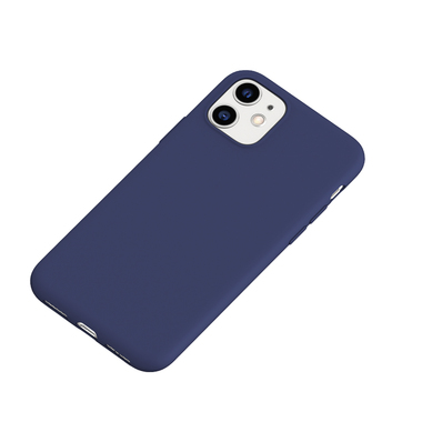 Силиконовый чехол для iPhone 11 Magic Silki - темно синий, фото №1