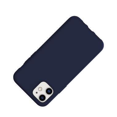 Силиконовый чехол для iPhone 11 Magic Silki - темно синий, фото №2