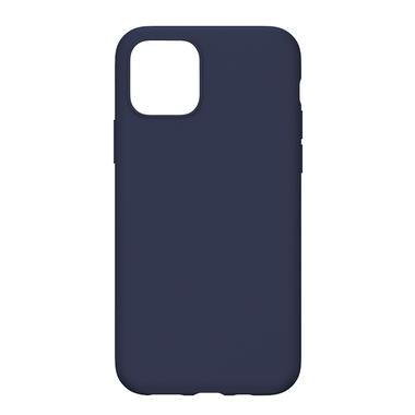 Силиконовый чехол для iPhone 11 Magic Silki - темно синий, фото №4