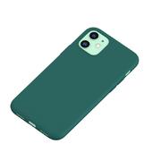 Силиконовый чехол для iPhone 11 Magic Silki - темно зеленый