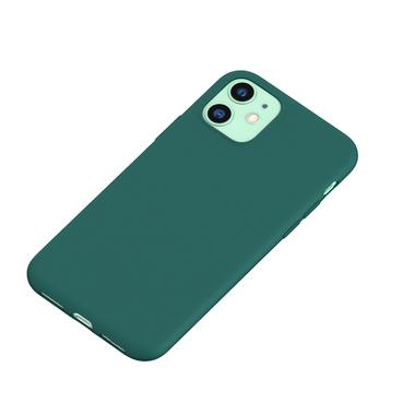 Силиконовый чехол для iPhone 11 Magic Silki - темно зеленый, фото №1