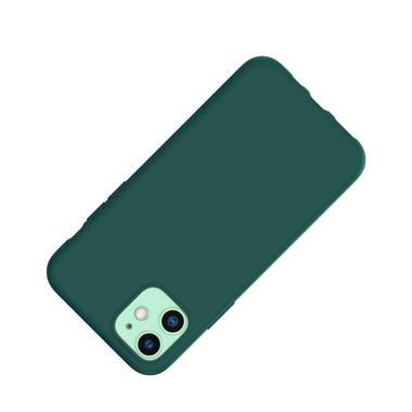 Силиконовый чехол для iPhone 11 Magic Silki - темно зеленый, фото №2