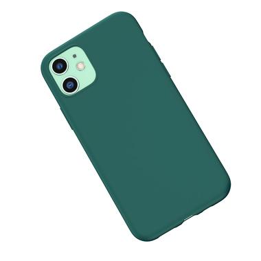 Силиконовый чехол для iPhone 11 Magic Silki - темно зеленый, фото №3