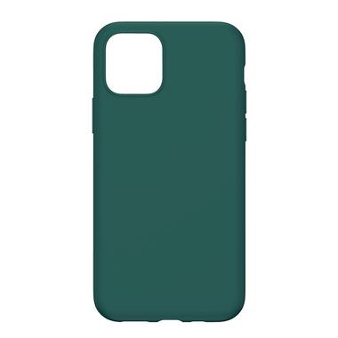 Силиконовый чехол для iPhone 11 Magic Silki - темно зеленый, фото №4