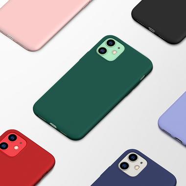 Силиконовый чехол для iPhone 11 Magic Silki - темно зеленый, фото №6
