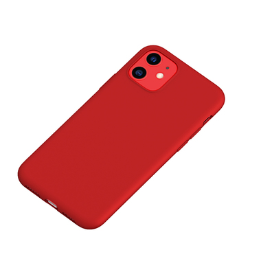 Силиконовый чехол для iPhone 11 Magic Silki - красный, фото №1