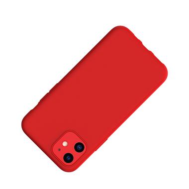 Силиконовый чехол для iPhone 11 Magic Silki - красный, фото №2