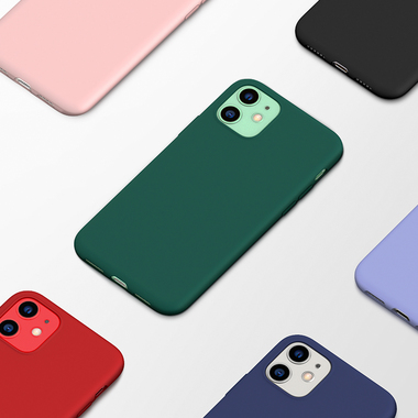 Силиконовый чехол для iPhone 11 Magic Silki - красный, фото №6