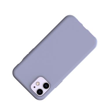 Силиконовый чехол для iPhone 11 Magic Silki - серый, фото №2
