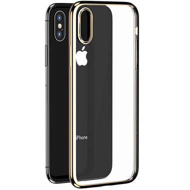 Чехол для iPhone XS Max Electroplating - золотой, фото №1