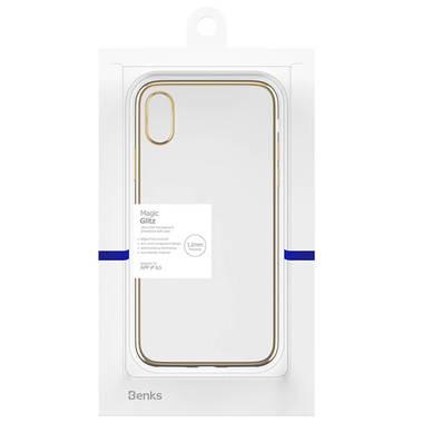 Чехол для iPhone XS Max Electroplating - золотой, фото №3