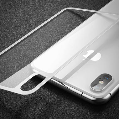 Benks Защитное стекло на заднюю панель iPhone XS - Silver, фото №3