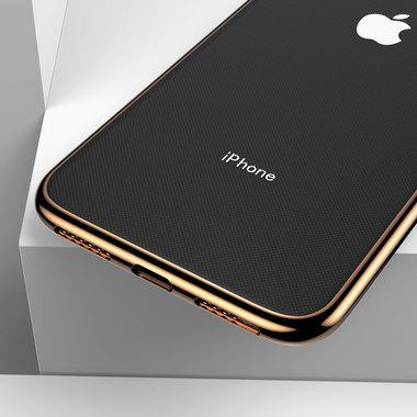 Чехол для iPhone XS Max Electroplating - золотой, фото №2